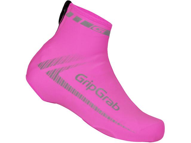 GripGrab RaceAero Hi-Vis Lightweight Lycra Shoe Cover pink